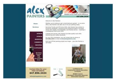 Alex Painters Website