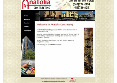 Anatolia Contracting Website