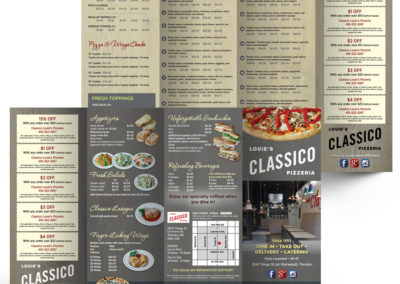 Classico Louie's Pizzeria Take-Out Menu
