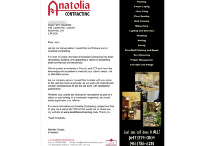 Anatolia Contracting Introduction Letter