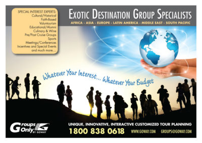 Goway Ad - Groups Specialists