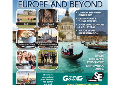 Goway Ad - Leisure Group Travel Europe and Beyond
