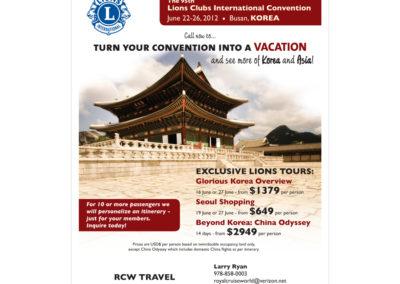 Goway Flyer - Lions Club, Korea