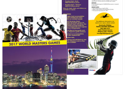 Goway Flyer - World Masters Games 2017