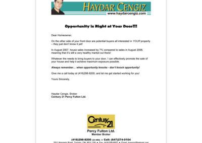Haydar Cengiz Expiries Letter
