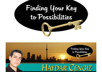 Haydar Cengiz - Finding Your Key to Possibilities Tagline and Logo