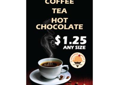 Lickadee Split Coffee Tea Sign