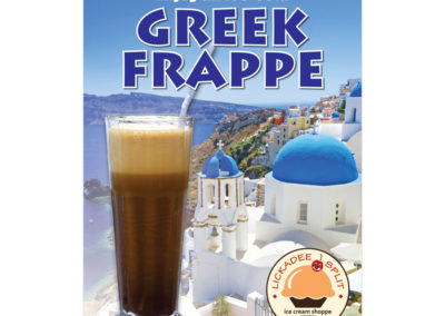 Lickadee Split Greek Frappe Poster