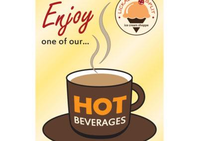 Lickadee Split Hot Beverages Poster