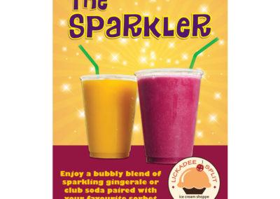 Lickadee Split Sparkler Poster