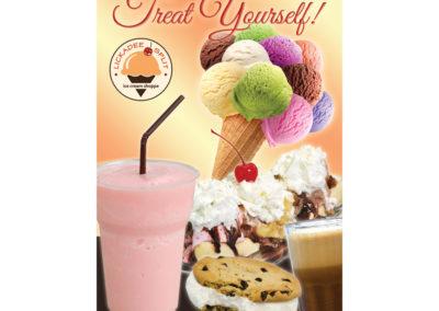 Lickadee Split Treat Yourself Ice Cream Sign 2
