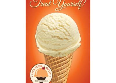Lickadee Split Treat Yourself Ice Cream Sign