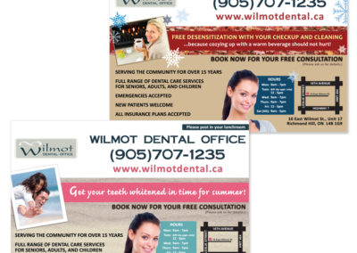 Wilmot Dental Postcards