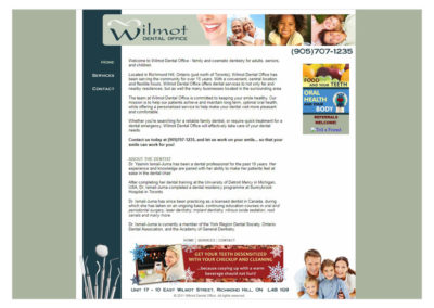 "Wilmot Dental Website  -  <a href=""http://www.wilmotdental.ca""   target=""blank"">www.wilmotdental.ca</a  >"