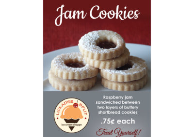 Lickadee Split Jam Cookies Sign